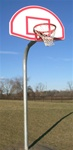 GOOSENECK FRONT MOUNT SINGLE POST OUTDOOR BASKETBALL BACKSTOP (POLE ONLY)