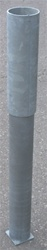 "HOT DIPPED GALVANIZED GROUND SLEEVE WITH CAP FO 3 1/2"" O.D. POST"